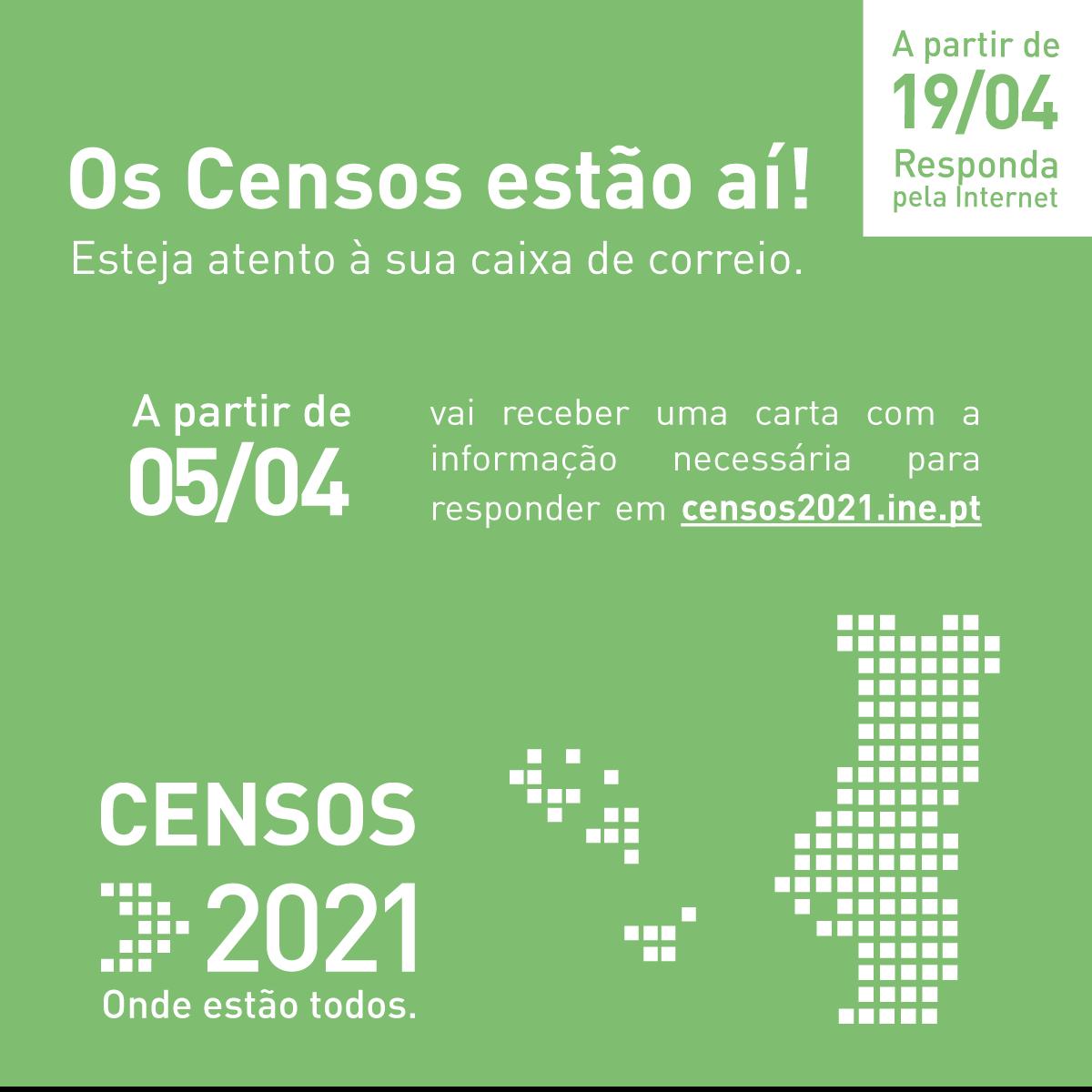 INE | Operação Censos 2021 arrancou no dia 5 abril