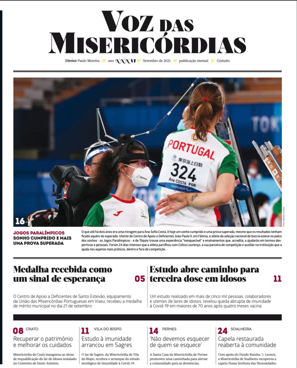 Jornal Voz das Misericórdias | Edição de setembro