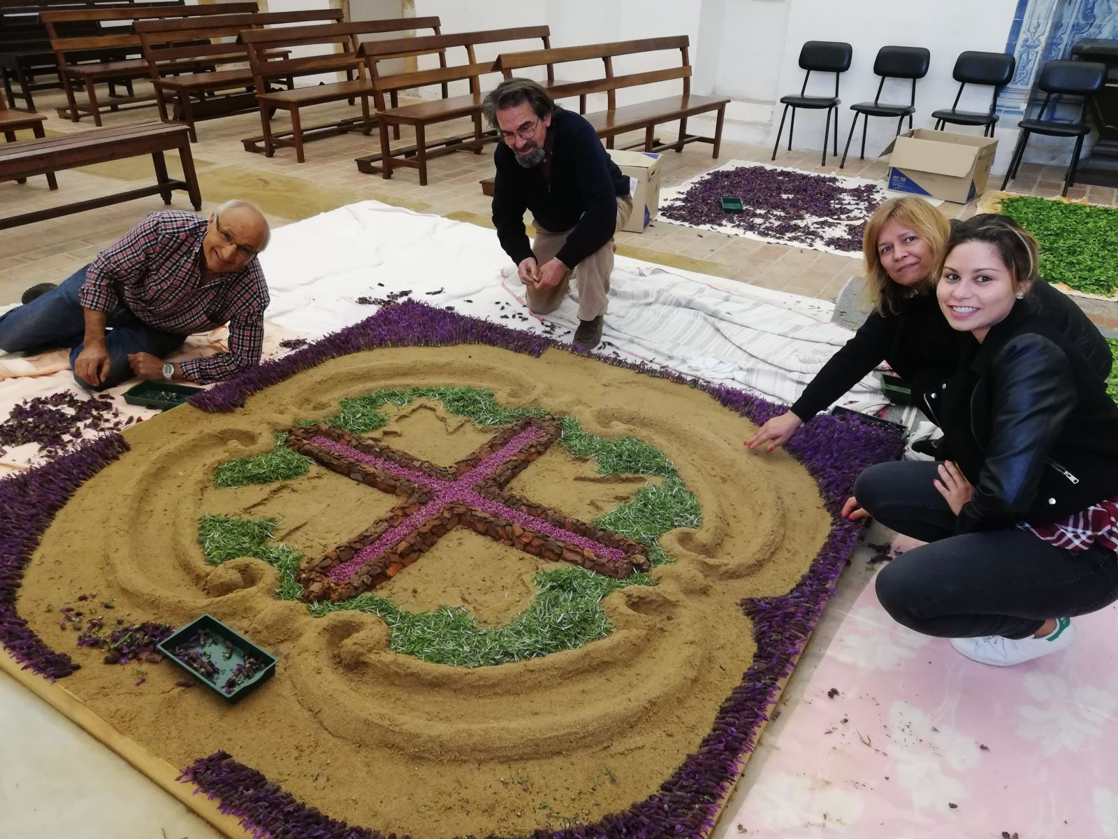 Misericórdia do Sardoal preparou tapetes de flores para a Semana Santa